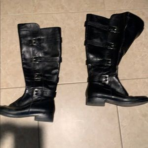 Michael Kors size 8 leather flat boots